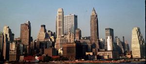 Skyline of New York City, July 1960. Photo courtesy Harold Egeberg and wikicommons