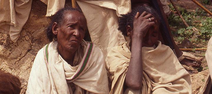 Community meeting in the Ethiopian village of Mai Misham. Photo courtesy Peter Van Arsdale