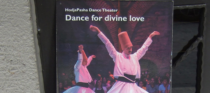 Ad for dance concerts in Istanbul; Photo courtsey Daniel Martin Varisco