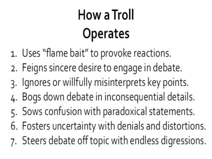 Trolling Behavior
