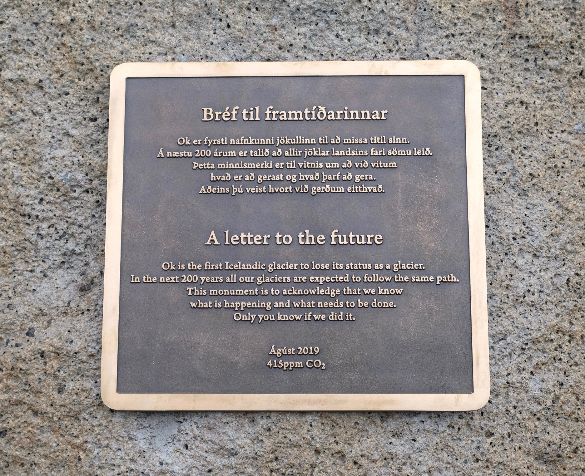 Photo of a plaque.