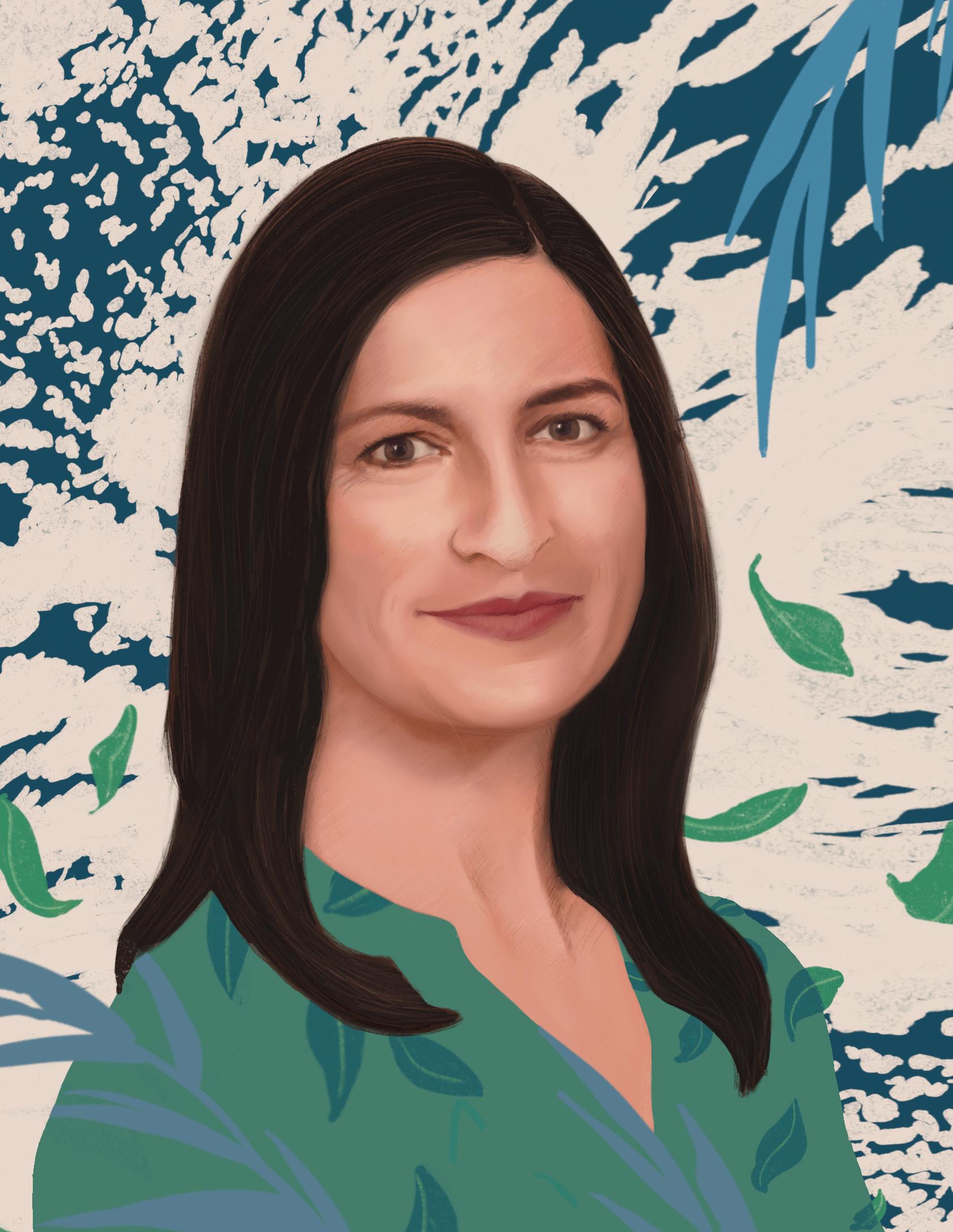 Illustration of Heather Lazrus.
