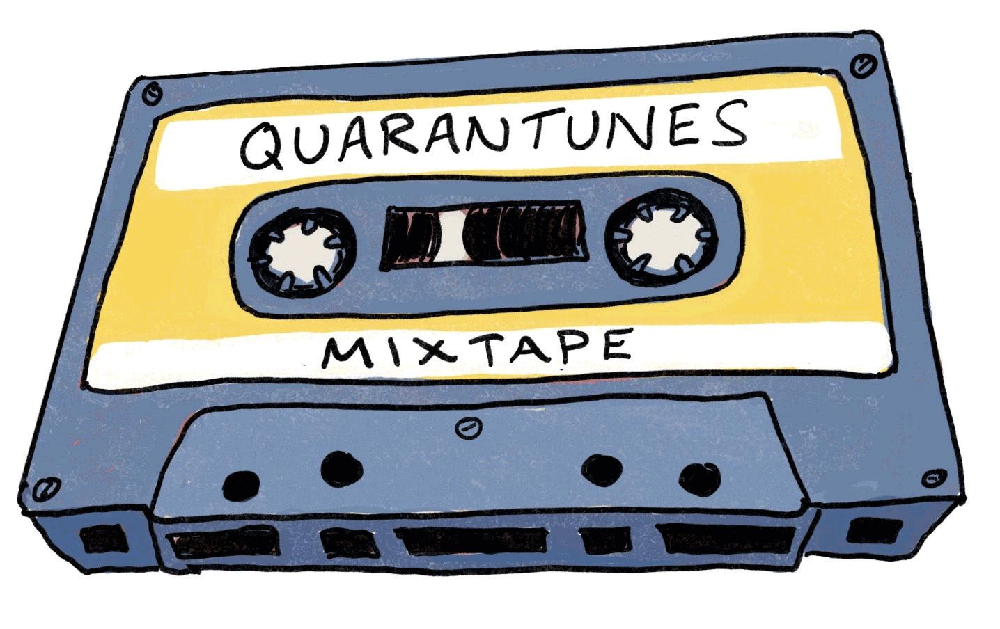 Illustration of a cassette tape.