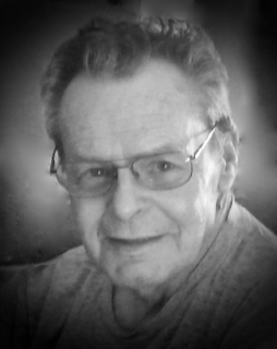Black and white photograph of a man