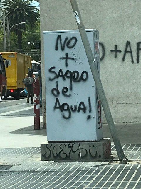 Photograph of a handwritten grafitti