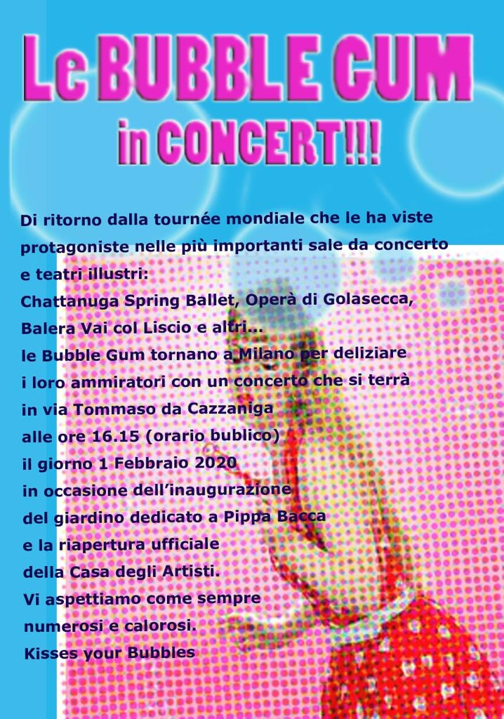 Flyer advertising a concert.
