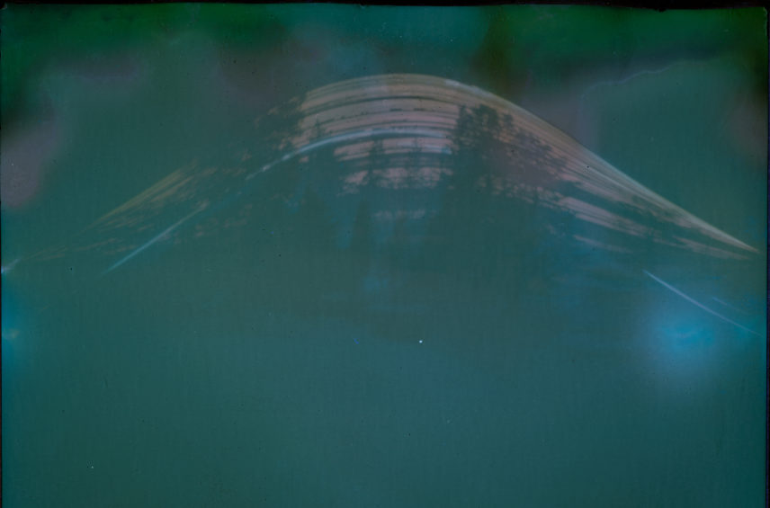 Photograph from a beer can camera.
