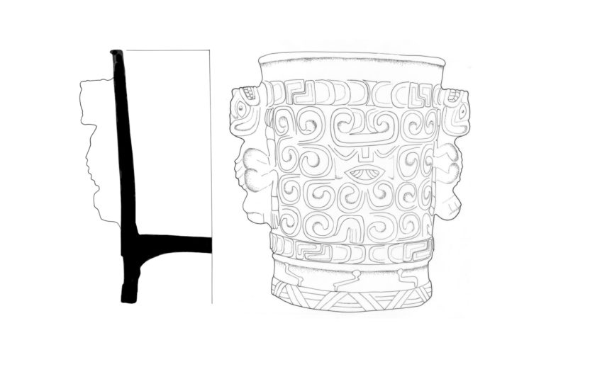 Drawing of a vase.