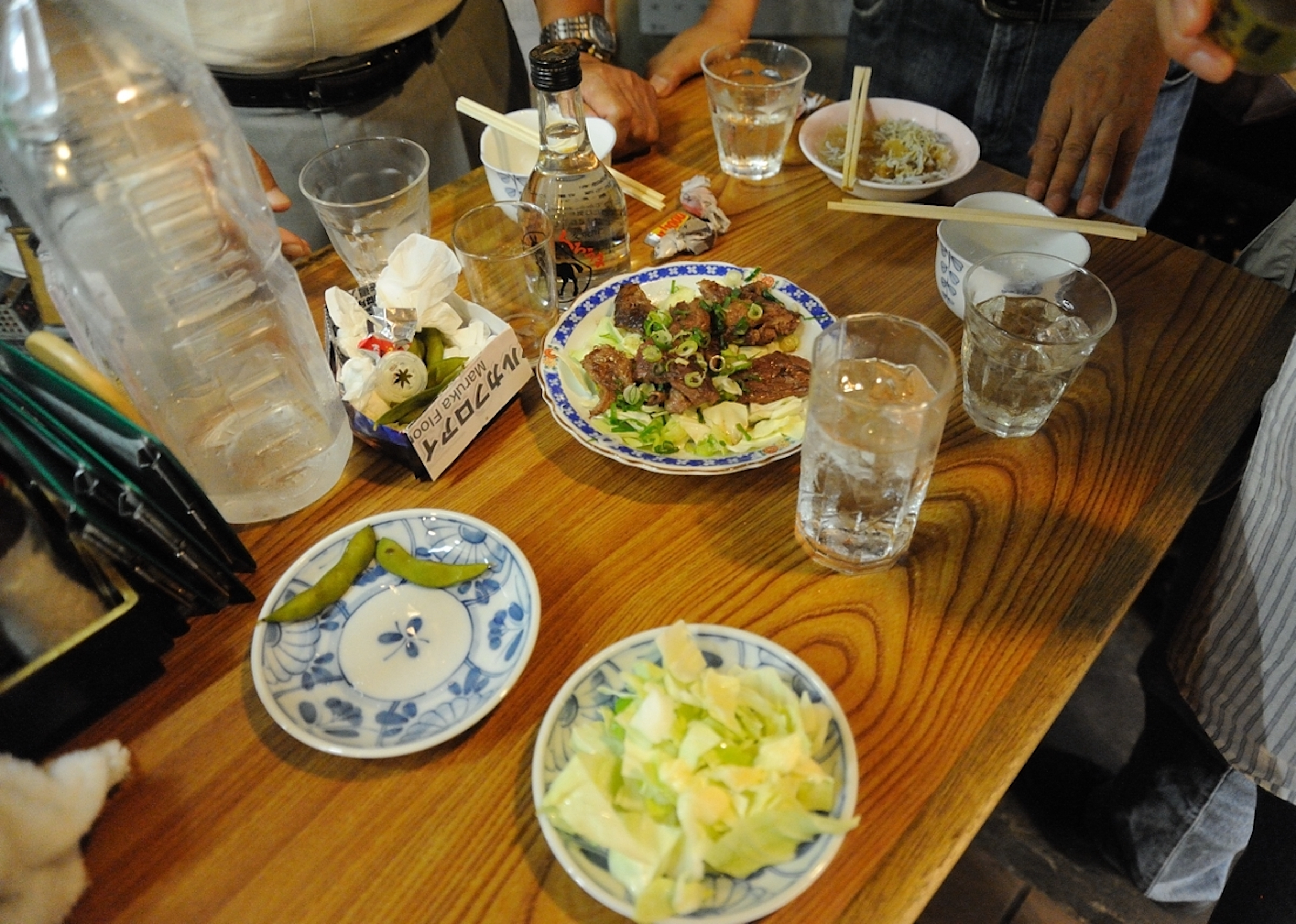 Photograph of a table covered with various dishes