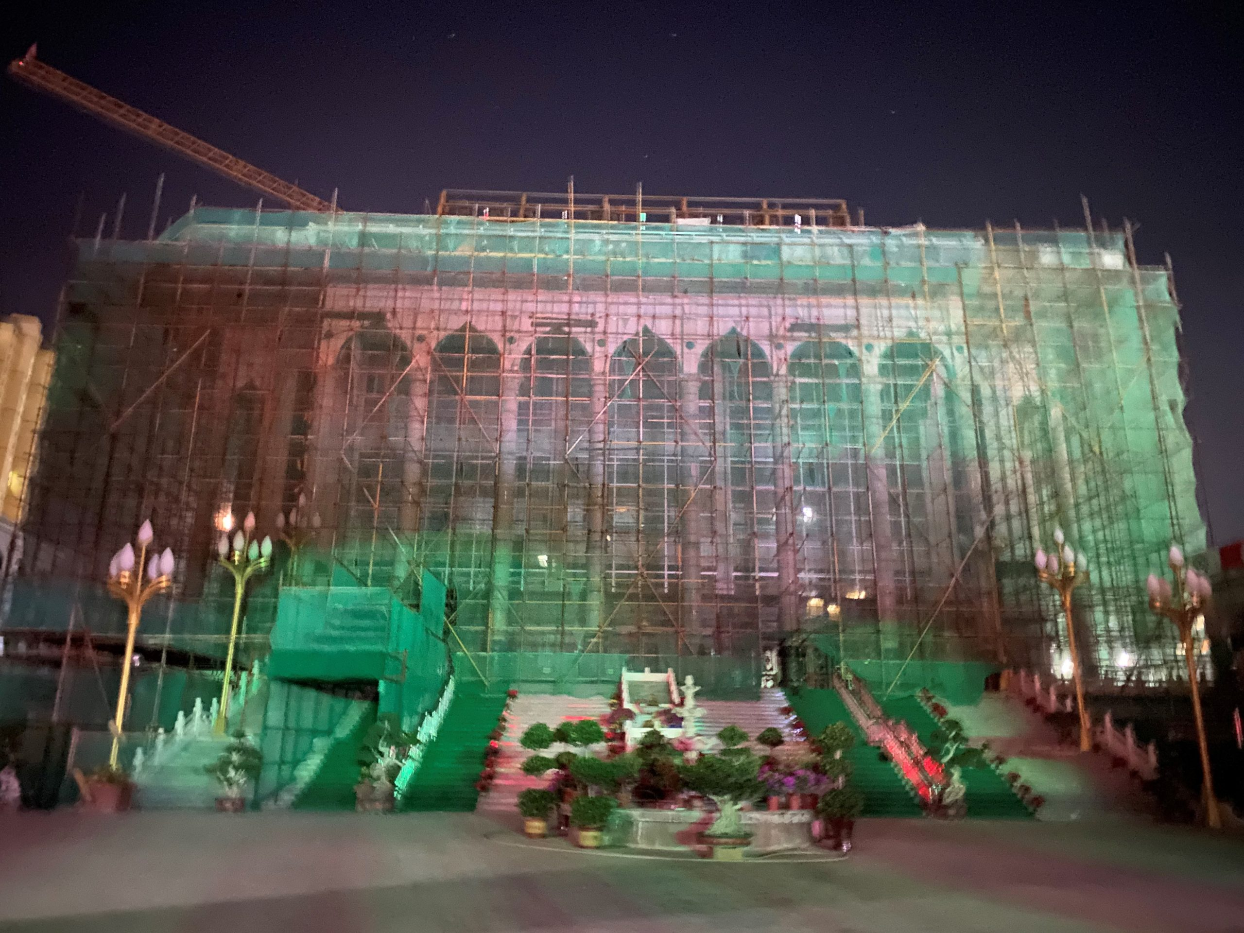 Photograph of a mosque under renovation