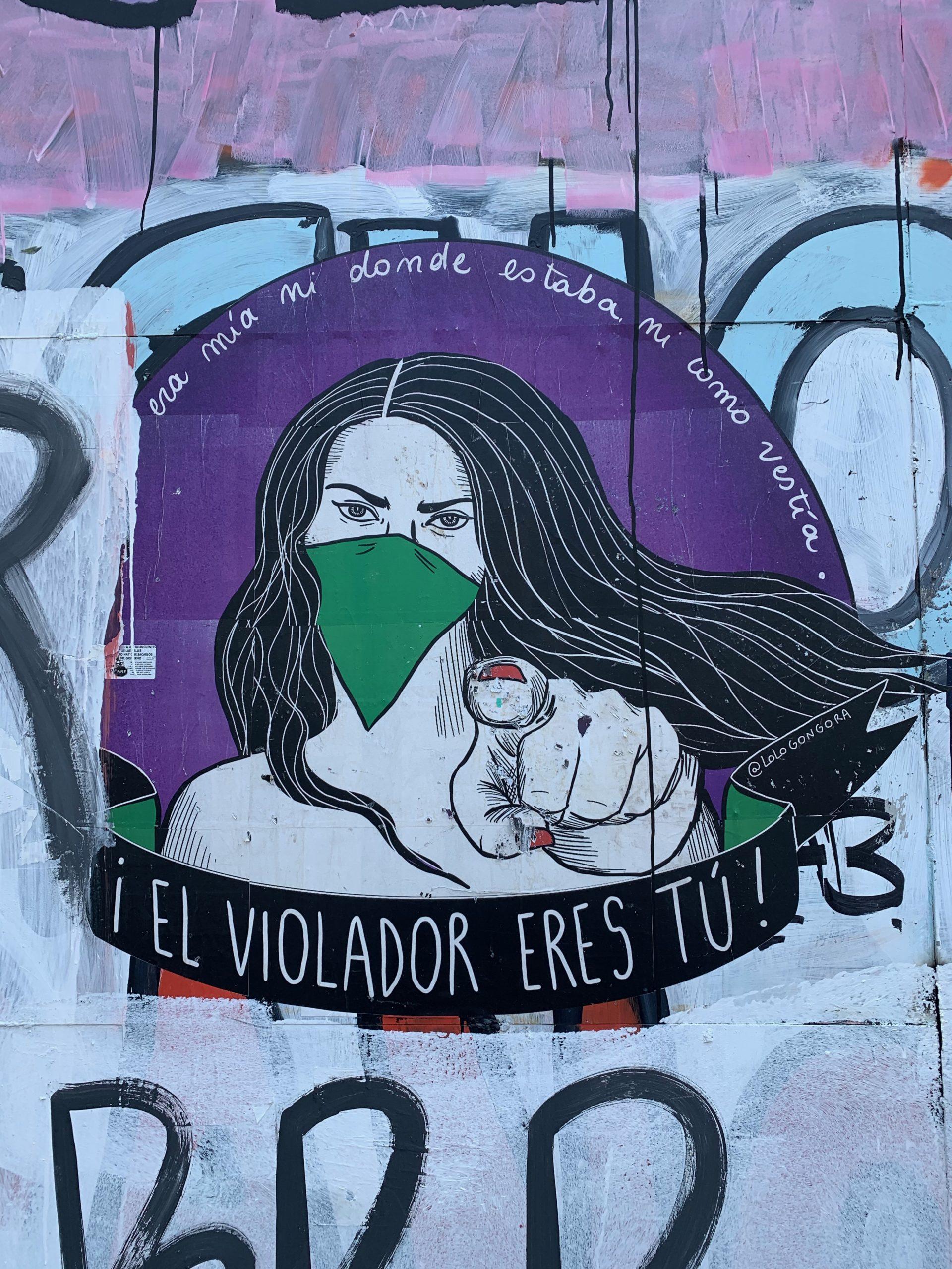 Protest art in Santiago