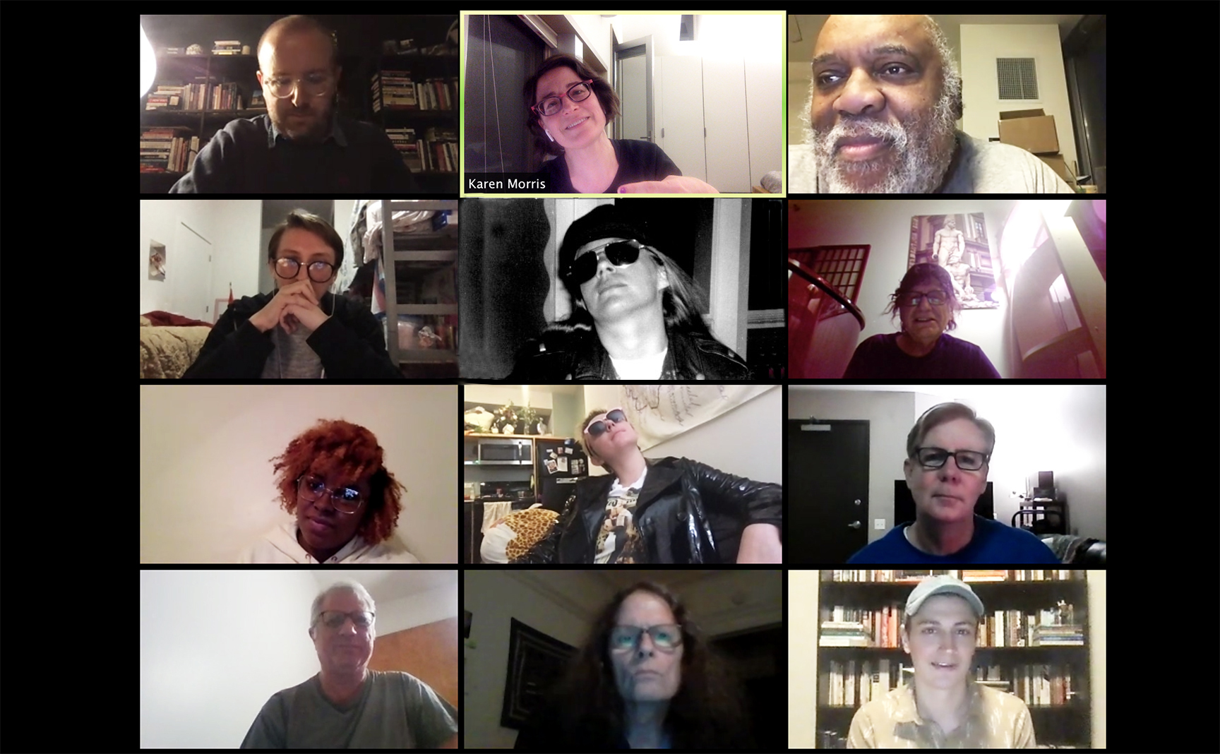 Screenshot of participants in a Zoom meeting.