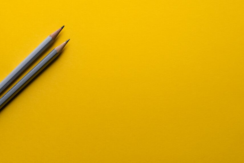 Photograph of two pencils