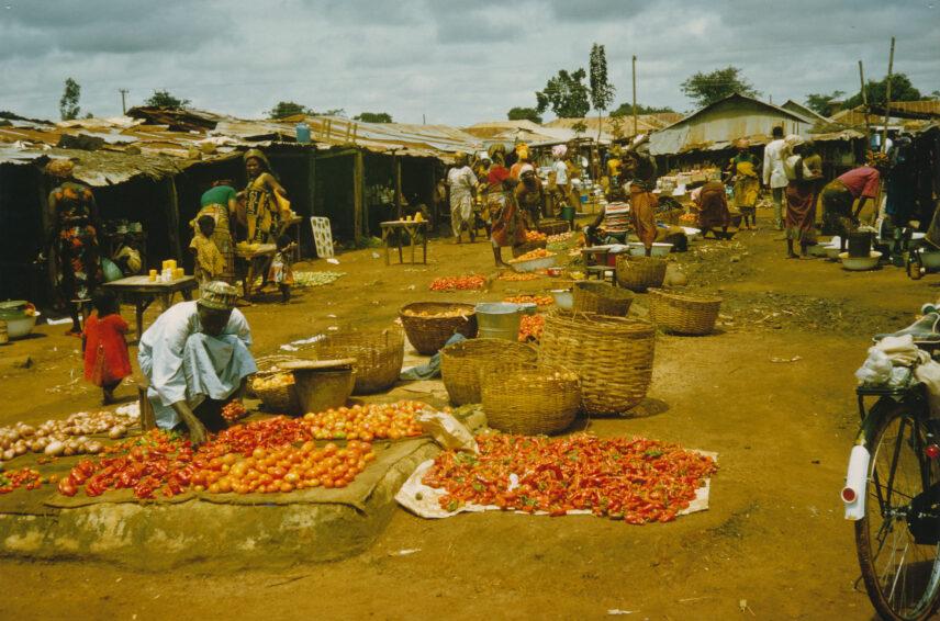 Photograph of an outdoor market